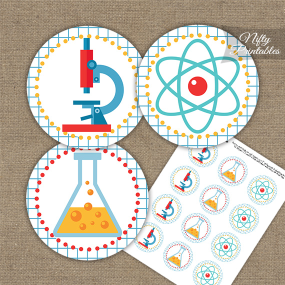 Science Fun Cupcake Toppers