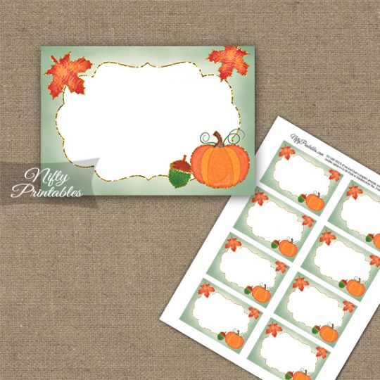 Autumn Pumpkin Blank Labels