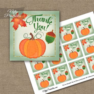 Autumn Pumpkin Thank You Favor Tags
