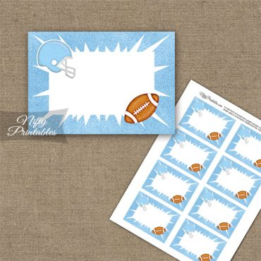 Baby Blue Football Blank Labels