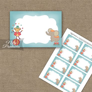 Cute Circus Birthday Blank Labels