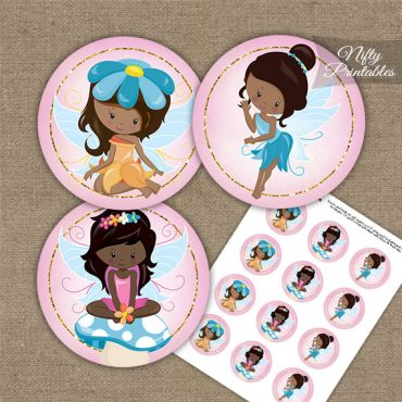 Fairies African American Birthday Cupcake Toppers