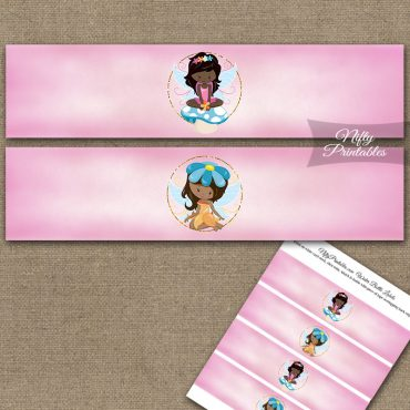 Fairies African American Birthday Water Bottle Labels