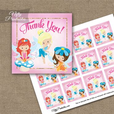 Fairies Fairy Party Birthday Thank You Favor Tags