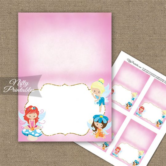 Fairies Fairy Party Birthday Folded Tent Place Cards