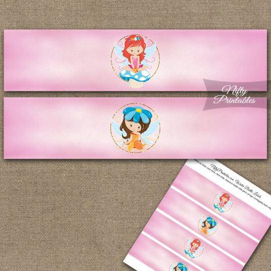 Fairies Fairy Party Birthday Water Bottle Labels