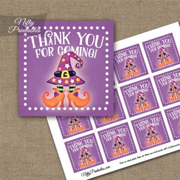 Funny Halloween Feet Thank You Favor Tags