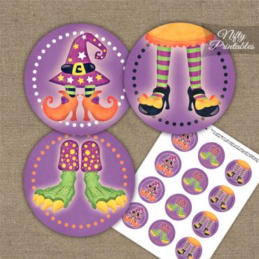 Funny Halloween Feet Cupcake Toppers