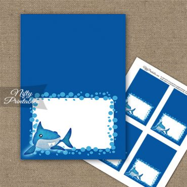 Funny Sharks Birthday Folded Tent Place Cards