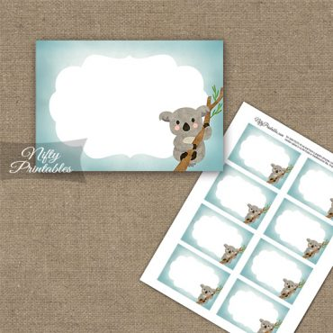 Koala Bear Blank Labels