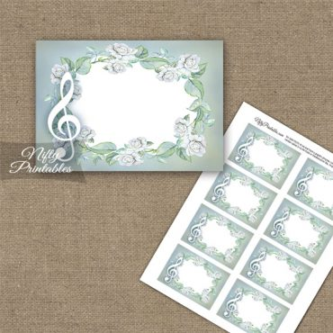 Music Romantic Blank Labels