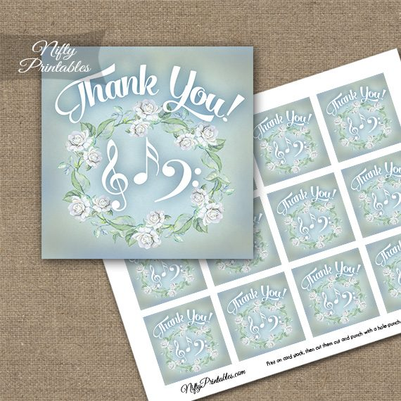 Music Romantic Thank You Favor Tags