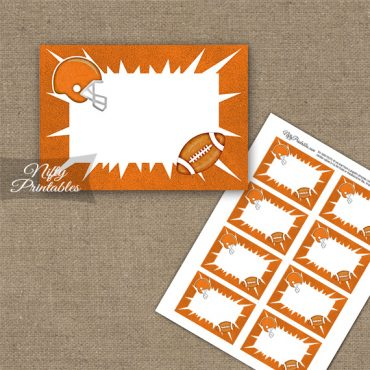 Orange Football Blank Labels