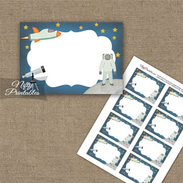 Outer Space Birthday Blank Labels