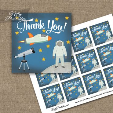 Outer Space Birthday Thank You Favor Tags
