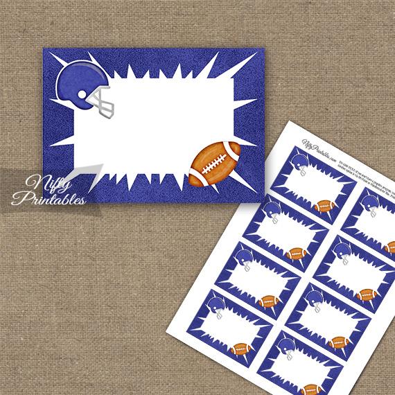 Purple Football Blank Labels