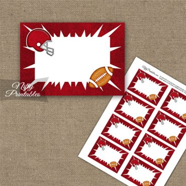 Red Football Blank Labels