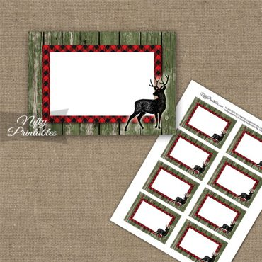 Rustic Woodland Forest Animals Blank Labels