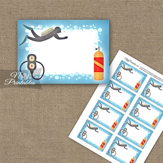 Scuba Diving Blank Labels