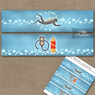 Scuba Diving Water Bottle Labels