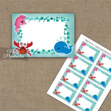 Under The Sea Birthday Blank Labels