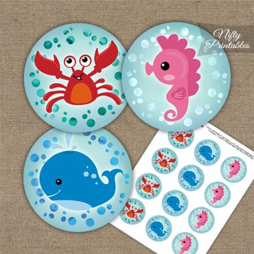 Under The Sea Birthday Cupcake Toppers
