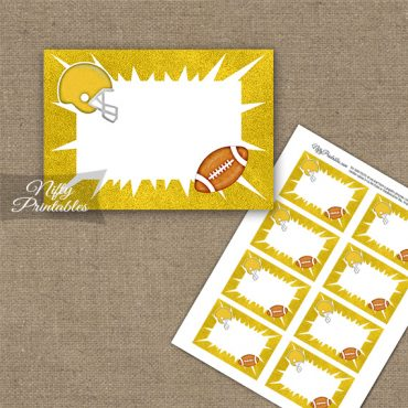 Yellow Football Blank Labels