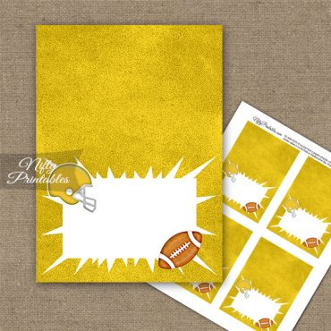 Yellow Football Folded Tent Place Cards