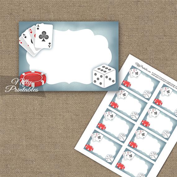 Casino Gambling Blank Labels