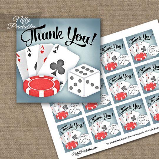 Casino Gambling Thank You Favor Tags