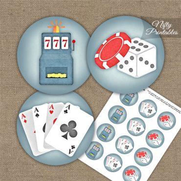 Casino Gambling Cupcake Toppers