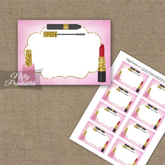 Makeup Cosmetics Spa Party Blank Labels
