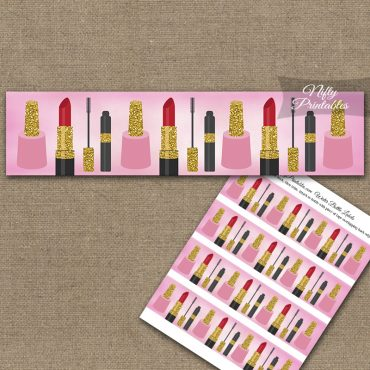 Makeup Cosmetics Spa Party Water Bottle Labels