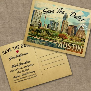 Austin Texas Save The Date PRINTED