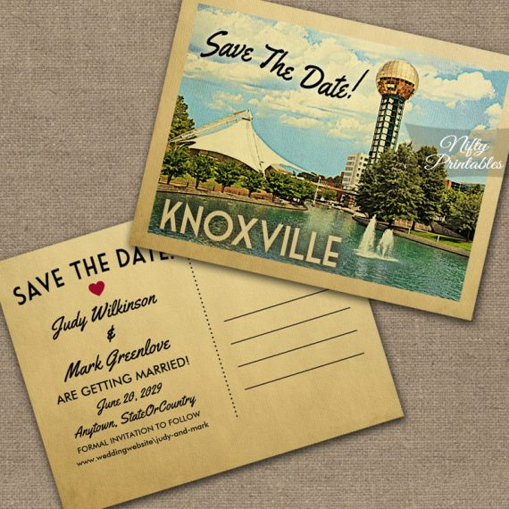 Knoxville Tennessee Save The Date PRINTED