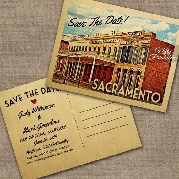Sacramento California Save The Date PRINTED