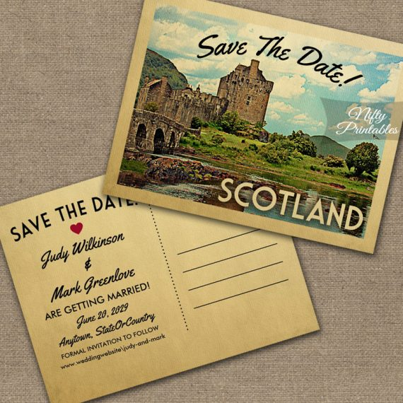 Scotland Save The Date Eilean Donan Castle PRINTED