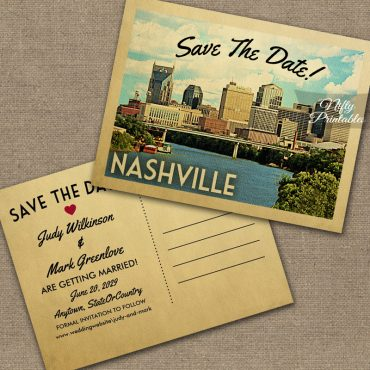 Nashville Tennessee Save The Date PRINTED