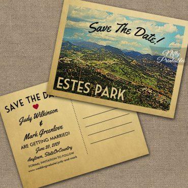 Estes Park Colorado Save The Date PRINTED
