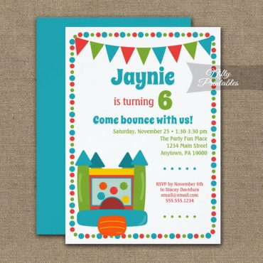 Birthday Invitation Bounce Cute PRINTED