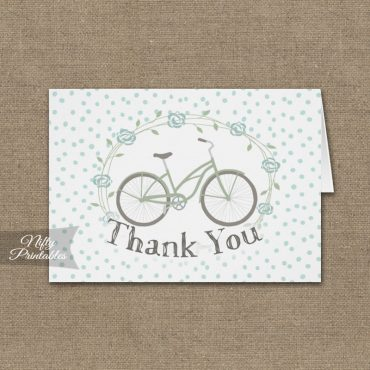 Bicycle Polka Dots Folded Thank You Cards PRINTED