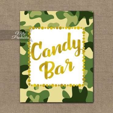 Candy Bar Sign - Camo