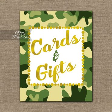 Cards Gifts Sign - Camo