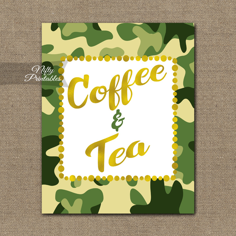 photograph about Camo Printable Paper referred to as Espresso Tea Indication - Camo
