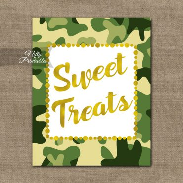 Sweet Treats Dessert Sign - Camo