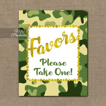 Favors Sign - Camo