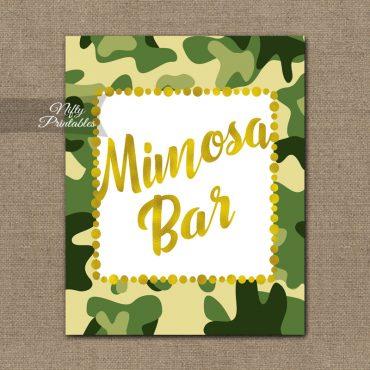Mimosa Bar Sign - Camo