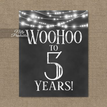 5th Birthday Sign - Chalkboard Lights
