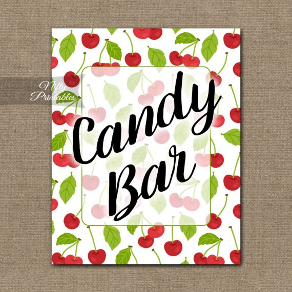 Candy Bar Sign - Cherries