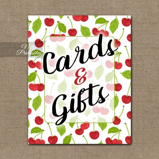 Cards Gifts Sign - Cherries